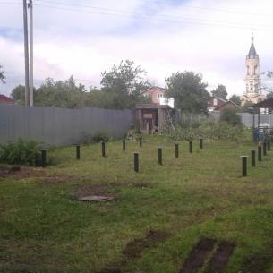 Фундамента на винтовых сваях в Cуздальском районе