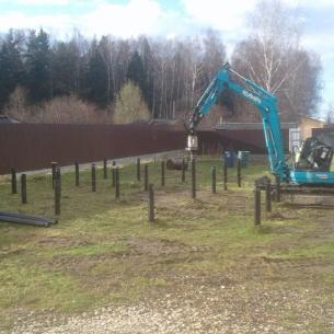 Строительство фундамента на винтовых сваях в г. Киржач