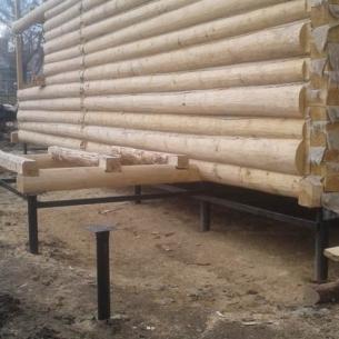 Свайный фундамент для дома из бревна в г. Ставрово