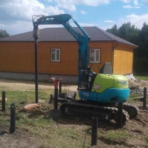 Строительство фундамента на винтовых сваях в г. Владимир