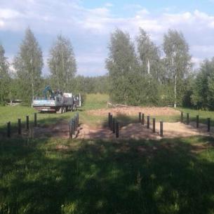 Фундамент на винтовых сваях. Киржачский район