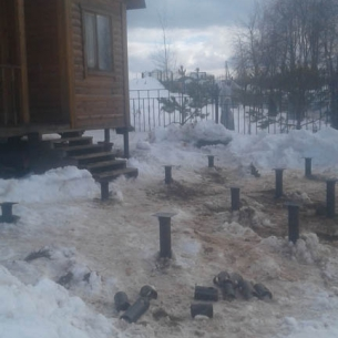 Дома из бруса на винтовых сваях в г. Владимир