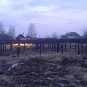 Строительство фундамента на винтовых сваях в Лакинске