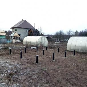 Строительство фундамента на винтовых сваях в Александрове