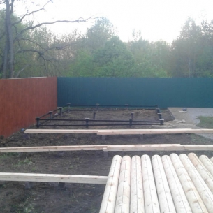Строительство фундамента для бани в г. Покров