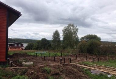 Строительство фундамента на винтовых сваях в Кольчугинском районе
