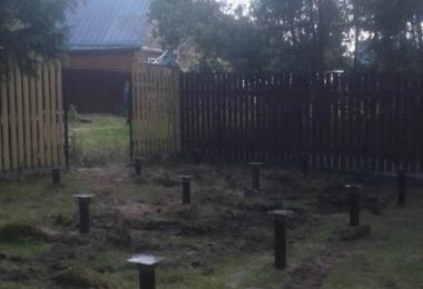 Строительство фундамента на винтовых сваях в Собинке