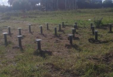 Строительство фундамента на винтовых сваях в г. Судогда